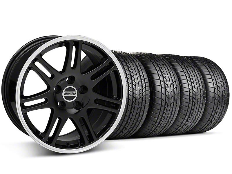 Staggered 10th Anniversary Cobra Style Black Wheel & Sumitomo Tire Kit - 17x9/10.5 (99-04 All)