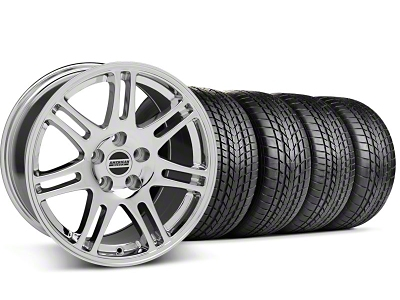 Staggered 10th Anniversary Cobra Style Chrome Wheel & Sumitomo Tire Kit - 17x9/10.5 (99-04 All)