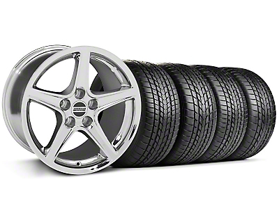 Staggered Saleen Chrome Wheel & Sumitomo Tire Kit - 17x9/10.5 (99-04 All)