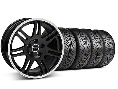 Staggered 10th Anniversary Cobra Style Black Wheel & Sumitomo Tire Kit - 18x9/10 (99-04 All)
