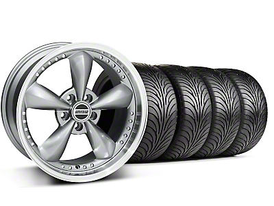 Staggered Bullitt Motorsport Anthracite Wheel & Sumitomo Tire Kit - 18x9/10 (99-04 All)
