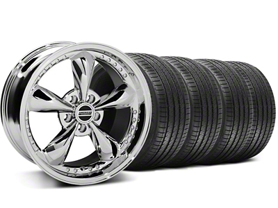 Staggered Bullitt Motorsport Chrome Wheel & Sumitomo Tire Kit - 18x9/10 (99-04 All)