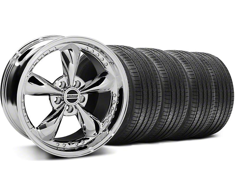 Staggered Bullitt Motorsport Chrome Wheel & Sumitomo Tire Kit - 18x9/10 (99-04 All)