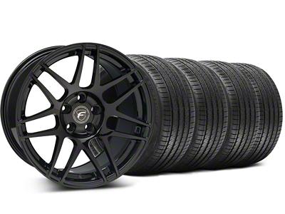 Forgestar Staggered F14 Monoblock Piano Black Wheel & Sumitomo Tire Kit - 18x9/10 (99-04 All)