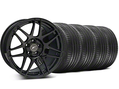 Forgestar Staggered F14 Monoblock Piano Black Wheel & Sumitomo Tire Kit - 18x9/10 (99-04 All)