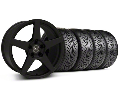 Forgestar Staggered CF5 Monoblock Textured Black Wheel & Sumitomo Tire Kit - 18x9/10 (99-04 All)