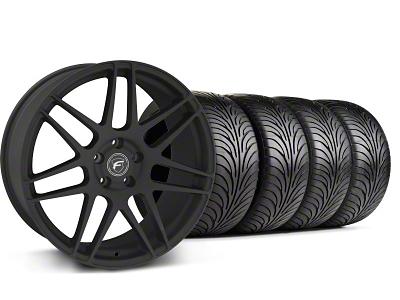 Forgestar Staggered F14 Monoblock Textured Black Wheel & Sumitomo Tire Kit - 18x9/10 (99-04 All)