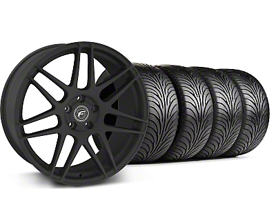 Forgestar Staggered F14 Monoblock Textured Black Wheel & Sumitomo Tire Kit - 18x9/10 (99-04 All)