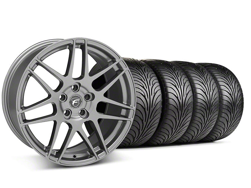 Staggered Forgestar F14 Monoblock Gunmetal Wheel & Sumitomo Tire Kit - 18x9/10 (99-04 All)