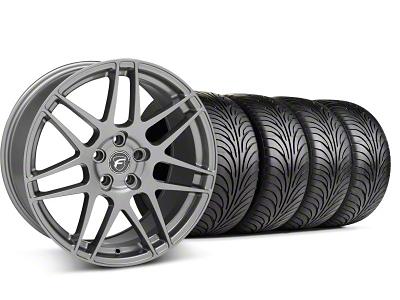 Forgestar Staggered F14 Monoblock Gunmetal Wheel & Sumitomo Tire Kit - 18x9/10 (99-04 All)