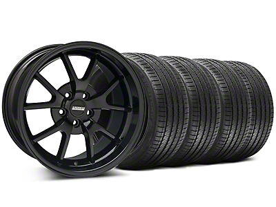 Staggered FR500 Style Gloss Black Wheel & Sumitomo Tire Kit - 18x9/10 (99-04 All)