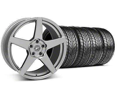 Forgestar Staggered CF5 Monoblock Gunmetal Wheel & NITTO Tire Kit - 18x9/10 (99-04 All)