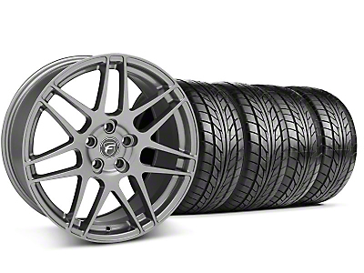 Forgestar Staggered F14 Monoblock Gunmetal Wheel & NITTO Tire Kit - 18x9/10 (99-04 All)
