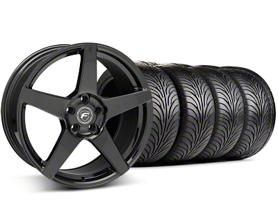 Forgestar Staggered CF5 Monoblock Piano Black Wheel & Sumitomo Tire Kit - 18x9/10 (94-98 All)