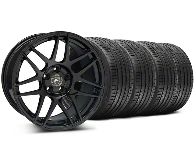 Forgestar Staggered F14 Monoblock Piano Black Wheel & Sumitomo Tire Kit - 18x9/10 (94-98 All)