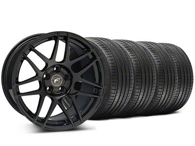 Forgestar Staggered F14 Monoblock Piano Black Wheel & Sumitomo Tire Kit - 18x9/10 (94-98 All)