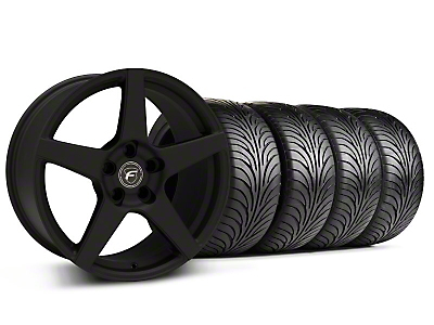 Forgestar Staggered CF5 Monoblock Textured Black Wheel & Sumitomo Tire Kit - 18x9/10 (94-98 All)