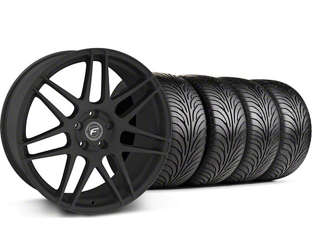 Staggered Forgestar F14 Textured Black Wheel & Sumitomo Tire Kit - 18x9/10 (94-98 All)
