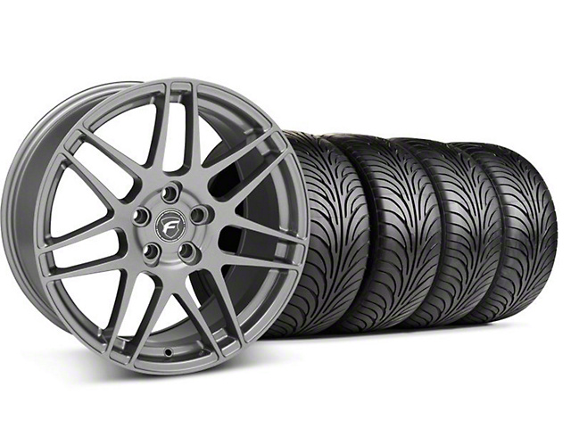 Forgestar Staggered F14 Monoblock Gunmetal Wheel & Sumitomo Tire Kit - 18x9/10 (94-98 All)