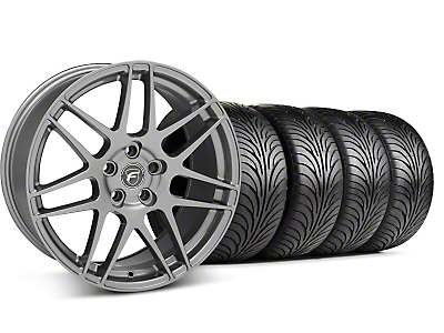 Staggered Forgestar F14 Monoblock Gunmetal Wheel & Sumitomo Tire Kit - 18x9/10 (94-98 All)