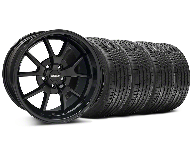 Staggered FR500 Style Gloss Black Wheel & Sumitomo Tire Kit - 18x9/10 (94-98 All)