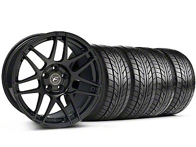 Forgestar Staggered F14 Monoblock Piano Black Wheel & NITTO Tire Kit - 18x9/10 (94-98 All)