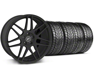 Forgestar Staggered F14 Monoblock Staggered Textured Black F14 Monoblock Wheel & NITTO Tire Kit - 18x9/10 (94-98 All)