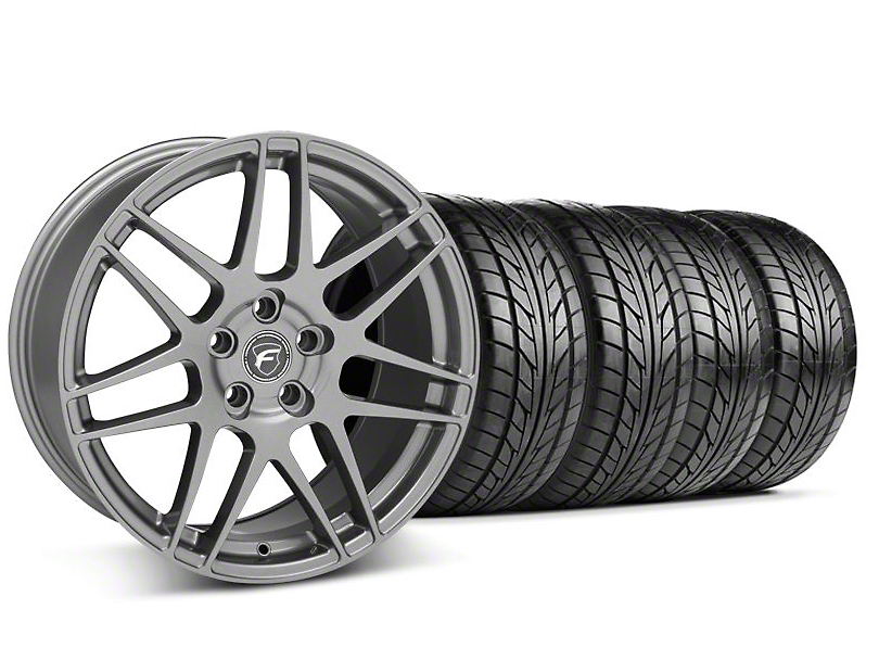 Forgestar Staggered F14 Monoblock Gunmetal Wheel & NITTO Tire Kit - 18x9/10 (94-98 All)