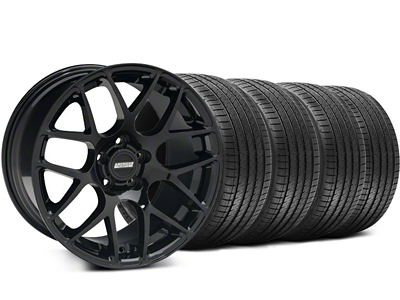 Staggered AMR Black Wheel & Sumitomo Tire Kit - 18x8/9 (94-98 All)