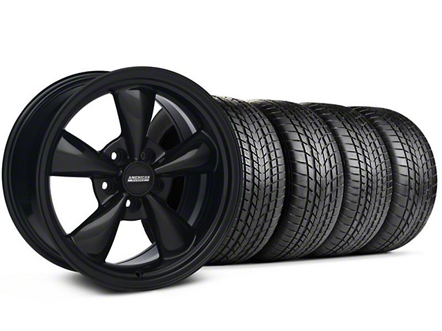 Staggered Bullitt All Black Wheel & Sumitomo Tire Kit - 17x9/10.5 (99-04 All)