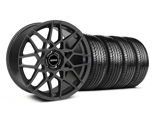 2013 GT500 Style Charcoal Wheel & Pirelli Tire Kit - 19x8.5 (05-14 GT, V6)