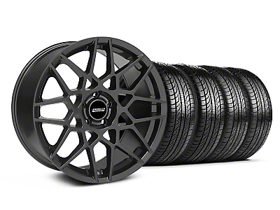 Charcoal 2013 GT500 Style Wheel & Pirelli Tire Kit - 19x8.5 (05-14 GT, V6)