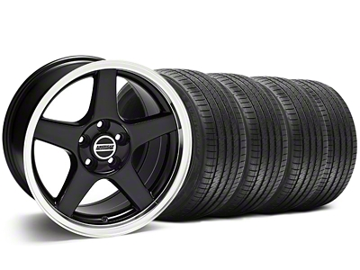 Deep Dish 2003 Cobra Style Black Wheel & Sumitomo Tire Kit - 17x9 (94-98 All)