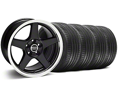 Deep Dish 2003 Cobra Black Wheel & Sumitomo Tire Kit - 17x9 (94-98 All)