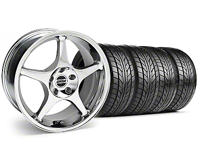 2000 Cobra R Chrome Wheel & NITTO Tire Kit - 18x9 (94-98 All)