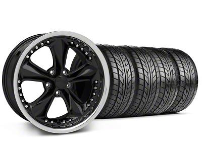 Foose Nitrous Black Wheel & NITTO Tire Kit - 18x9 (94-98 All)