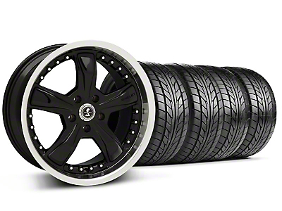 Shelby Razor Black Wheel & NITTO Tire Kit - 18x9 (94-98 All)