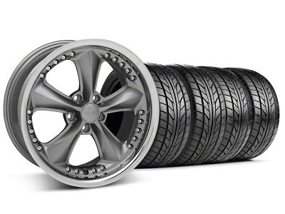 Foose Nitrous Grey Wheel & NITTO Tire Kit - 18x9 (94-98 All)