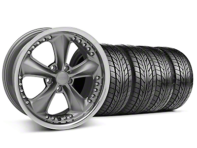 Foose Nitrous Grey Wheel & NITTO Tire Kit - 18x9 (94-98 All)