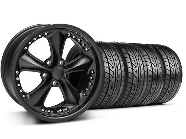 Foose Nitrous Matte Black Wheel & NITTO Tire Kit - 18x9 (94-98 All)