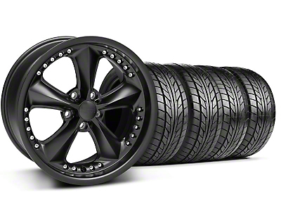 Foose Nitrous Matte Black Wheel & NITTO Tire Kit - 18x9 (94-98 All)