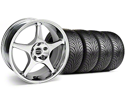 2000 Cobra R Chrome Wheel & Sumitomo Tire Kit - 18x9 (94-98 All)