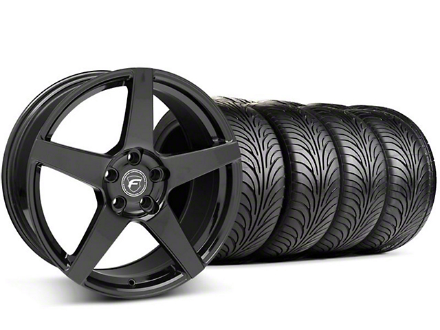 Forgestar Staggered F14 Monoblock Piano Black Wheel & Sumitomo Tire Kit - 18x9 (94-98 All)