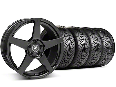 Staggered Forgestar F14 Monoblock Piano Black Wheel & Sumitomo Tire Kit - 18x9 (94-98 All)