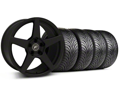 Forgestar CF5 Monoblock Textured Black Wheel & Sumitomo Tire Kit - 18x9 (94-98 All)