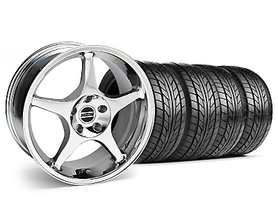 2000 Cobra R Style Chrome Wheel & NITTO Tire Kit - 18x9 (99-04 All)