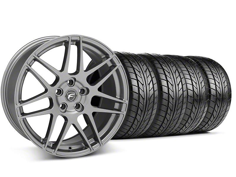 Forgestar F14 Monoblock Gunmetal Wheel & NITTO Tire Kit - 18x9 (99-04 All)