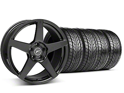 Forgestar CF5 Monoblock Piano Black CF5 Monoblock Wheel & NITTO Tire Kit - 18x9 (99-04 All)