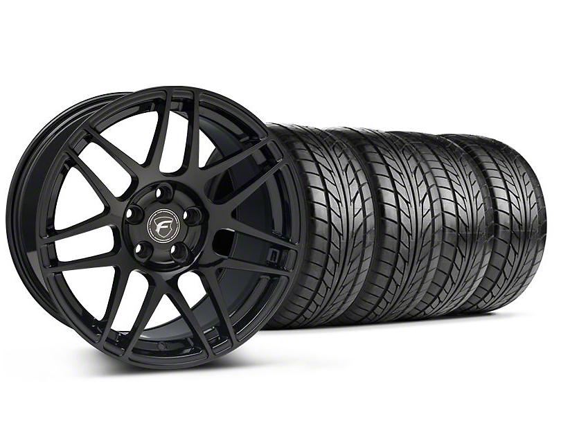 Forgestar F14 Monoblock Piano Black Wheel & NITTO Tire Kit - 18x9 (99-04 All)