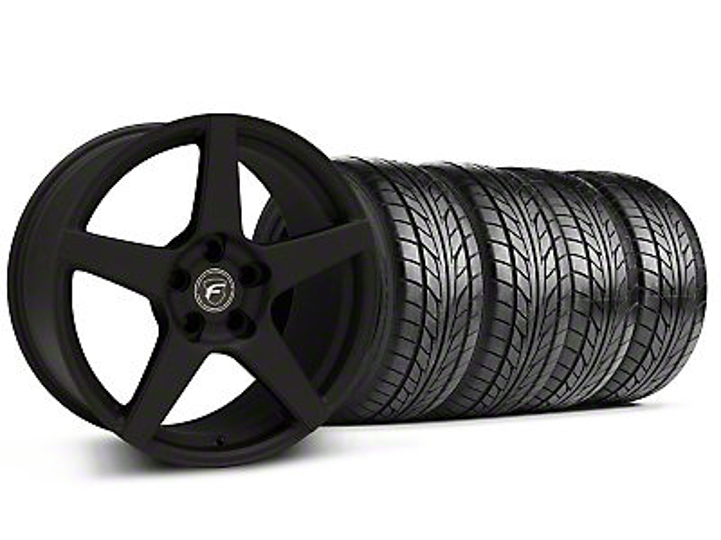 Forgestar CF5 Monoblock Textured Black Wheel & NITTO Tire Kit - 18x9 (99-04 All)